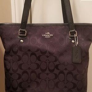 Coach purse signature